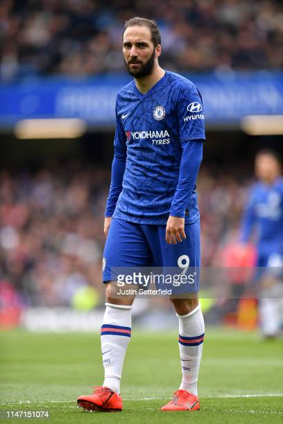Gonzalo Higuain of Chelsea during the Premier League match between Chelsea FC and Watford FC at Stamford Bridge on May 05 2019 in London United...
