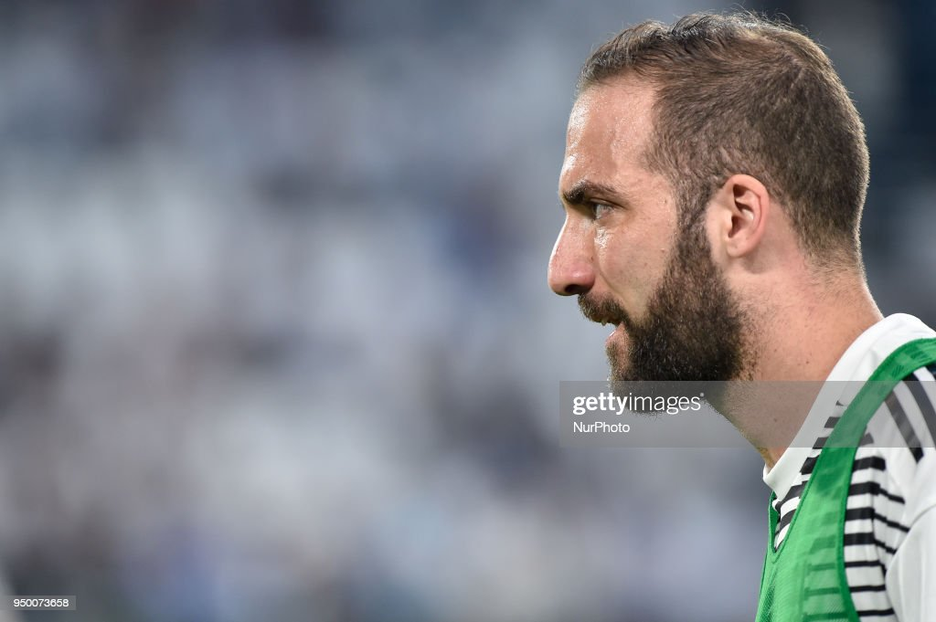 Gonzalo Higuain of Juventus during the Serie A match between Juventus and Napoli at Allianz Stadium, Turin, Italy on 22 April 2018.
