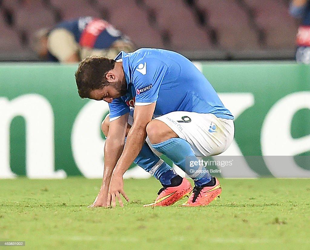 SSC Napoli v Athletic Club - UEFA Champions League Qualifying Play-Offs Round: First Leg : News Photo