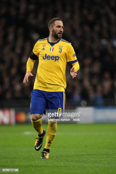 Gonzalo Higuaín of Juventus during the UEFA Champions League Round of 16 Second Leg match between Tottenham Hotspur and Juventus at Wembley Stadium...