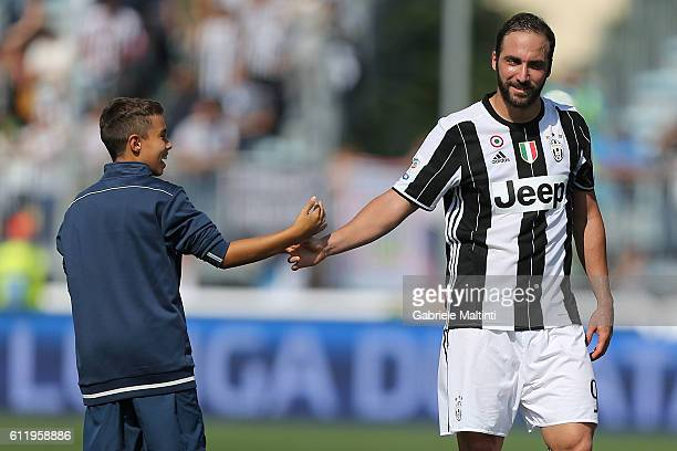 Gonzalo Higuian of Juventus FC during the Serie A match between Empoli FC and Juventus FC at Stadio Carlo Castellani on October 2 2016 in Empoli Italy