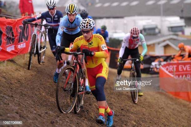 Gonzalo Inguanzo Macho of Spain and Team Spain / during the 70th Cyclo-cross World Championships Bogense 2019, Men Junior / Cross Denmark /...