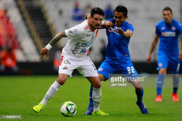 Gonzalo Malan of Alebrijes fights for the ball with Rafael Baca of Cruz Azul during a match between Cruz Azul and Alebrijes as part of the Copa MX...