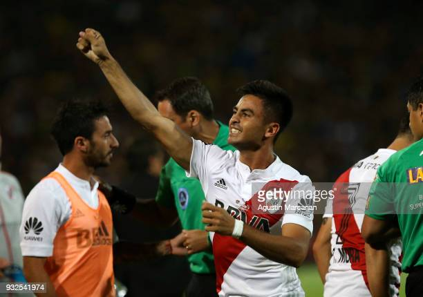 Gonzalo Martinez of River Plate celebrates after scoring the first goal of his team during the Supercopa Argentina 2018 between River Plate and Boca...