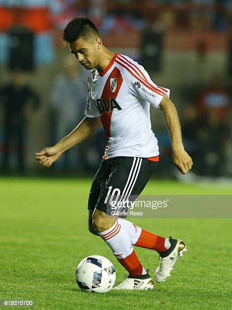 Gonzalo Martinez of River Plate kicks the ball to score the second goal of his team during a match between River Plate and Arsenal FC as part of...