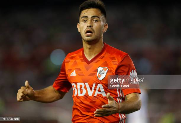 Gonzalo Martinez of River Plate looks on during a match between River Plate and Atletico de Tucuman as part of Superliga 2017/18 at Monumental...