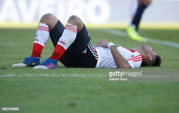 Gonzalo Martinez of River Plate reacts during a match between San Lorenzo and River Plate as part of Torneo Primera Division 2016/17 at Pedro...