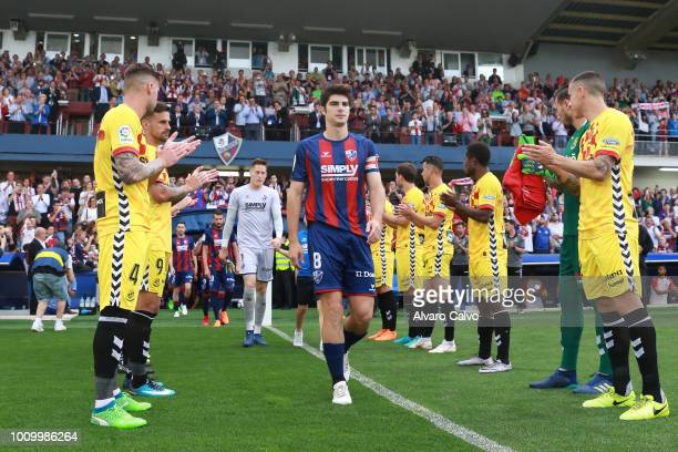 Gonzalo Melero during the Spanish Liga123 match between SD Huesca and Nastic de Tarragona at Alcoraz Stadium on on May 27, 2018 in Huesca, Spain.