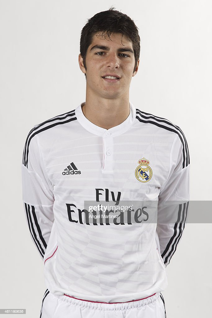 Gonzalo Melero Of Real Madrid Castilla Poses During A