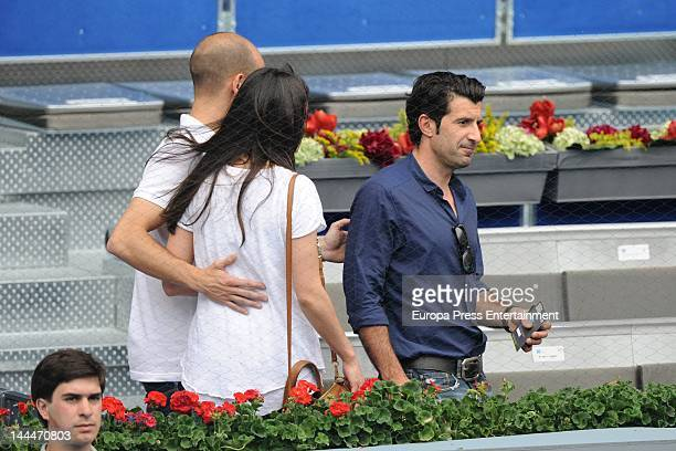 Gonzalo Miro Ana Isabel Medinabeitia and Luis Figo attend Mutua Madrilena Madrid Open on May 12 2012 in Madrid Spain