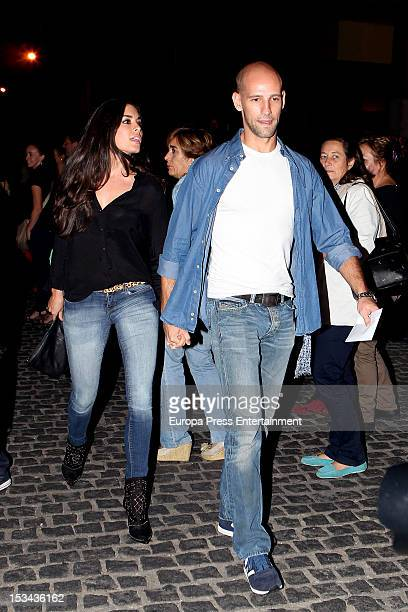 Gonzalo Miro and Ana Isabel Medinabeitia attend Miguel Bose's concert at Palacio de los Deportes on October 4 2012 in Madrid Spain