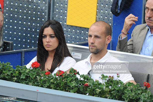 Gonzalo Miro and Ana Isabel Medinabeitia attend Mutua Madrilena Madrid Open on May 12 2012 in Madrid Spain