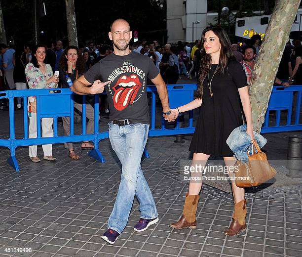 Gonzalo Miro and Ana Isabel Medinabeitia attend Rolling Stones's concert at Estadio Santiago Bernabeu on June 25 2014 in Madrid Spain