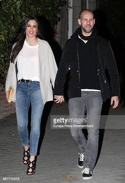 Gonzalo Miro and Ana Isabel Medinabeitia attend the 40th birthday party of the Spanish model Nieves Alvarez on March 28 2014 in Madrid Spain