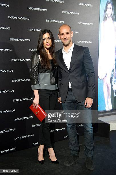 Gonzalo Miro and Ana Isabel Medinabeitia attend the Emporio Armani Boutique opening on April 8 2013 in Madrid Spain