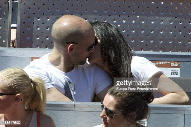 Gonzalo Miro and Ana Isabel Medinabeitia attend the Mutua Madrid Open tennis tournament at La Caja Magica on May 12 2013 in Madrid Spain