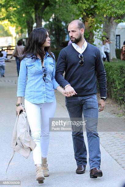 Gonzalo Miro and girlfriend Ana Isabel Medinabeitia attend Global Champion Tour on May 3 2014 in Madrid Spain