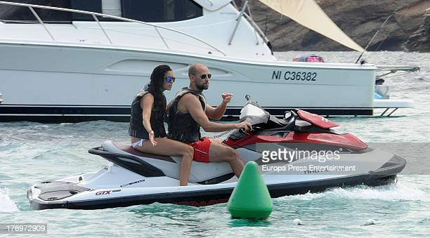 Gonzalo Miro and his girlfriend Ana Isabel Medinabeitia are seen on August 17 2013 in Ibiza Spain