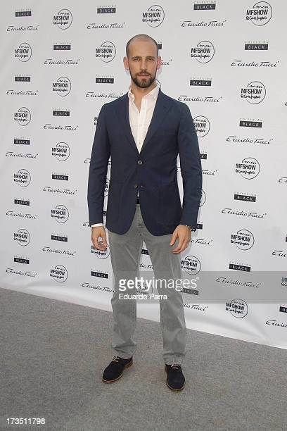 Gonzalo Miro attends 'Emidio Tucci Black' parade photocall at Costume Museum on July 15 2013 in Madrid Spain