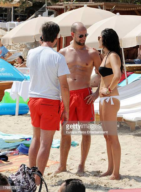 Gonzalo Miro his girlfriend Ana Isabel Medinabeitia and Cayetano Martinez de Irujo are seen on August 17 2013 in Ibiza Spain