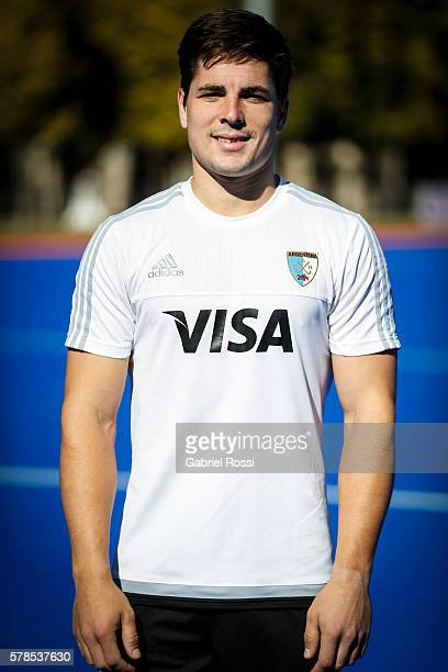 Gonzalo Peillat of Argentina poses for pictures during Argentina Training Session at CenARD on July 21 2016 in Buenos Aires Argentina