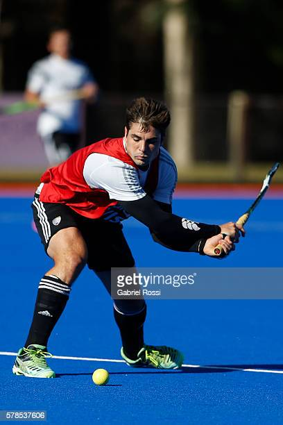 Gonzalo Peillat of Argentina takes a shot during Argentina Training Session at CenARD on July 21 2016 in Buenos Aires Argentina