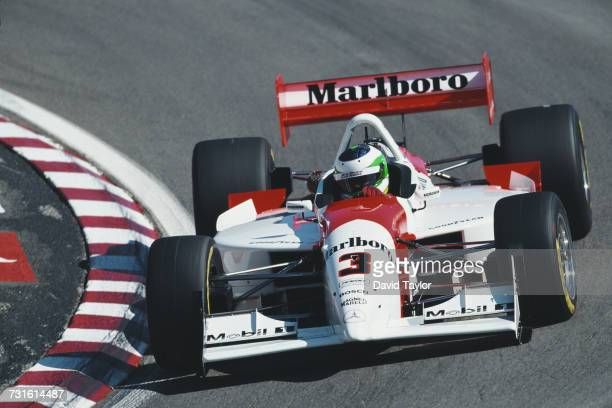 Gonzalo Rodriguez of Uruguay drives the Marlboro Team Penske Lola B99/00 Mercedes-Benz IC108E during practice for the Championship Auto Racing Teams...