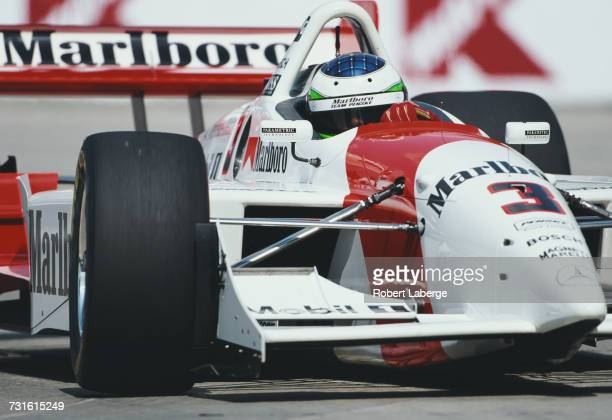 Gonzalo Rodriguez of Uruguay drives the Marlboro Team Penske Lola B99/00 MercedesBenz IC108E during the Championship Auto Racing Teams 1999 FedEx...