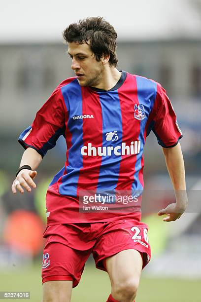 Gonzalo Sorondo of Crystal Palace in action during the Barclays Premiership match between Crystal Palace and Birmingham City at Selhurst Park on...