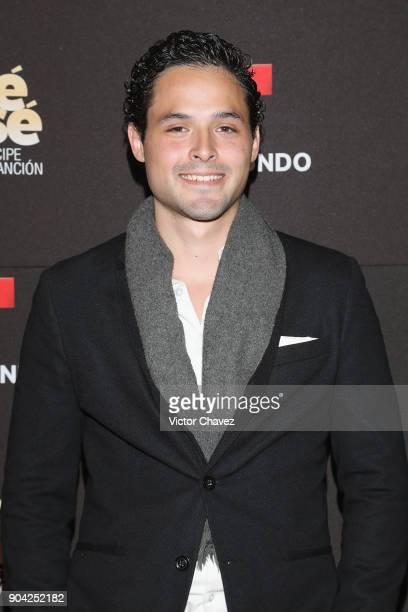 Gonzalo Vega Jr attends the 'Jose Jose El Principe De La Cancion' Telemundo tv series premiere at Four Seasons hotel on January 11 2018 in Mexico...
