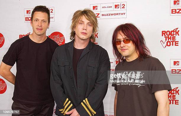 Goo Goo Dolls in the Foundation Room during Rock The Vote 2002 Patrick Lippert Awards Foundation Room at House Of Blues in West Hollywood California...