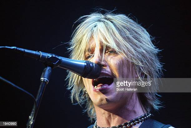 Goo Goo Dolls lead singer Johnny Rzeznik performs at the Tiger Jam VI at the Mandalay Bay Resort and Casino on April 19 2003 in Las Vegas Nevada