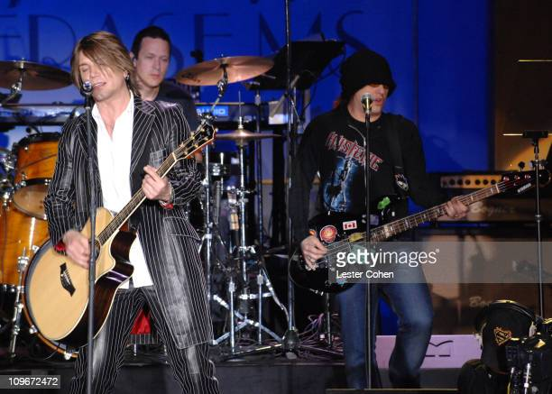 Goo Goo Dolls perform 'Let Love In' during 14th Annual Race to Erase MS Themed 'Dance to Erase MS' Show at Hyatt Regency Century Plaza in Century...