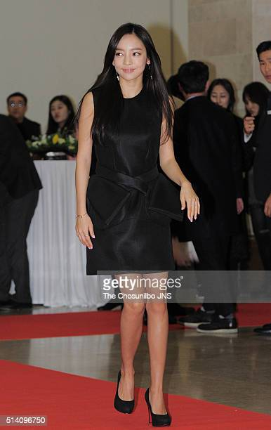Goo Hara attends the 3rd Edaily Culture Awards at Haeorum theater on February 19 2016 in Seoul South Korea