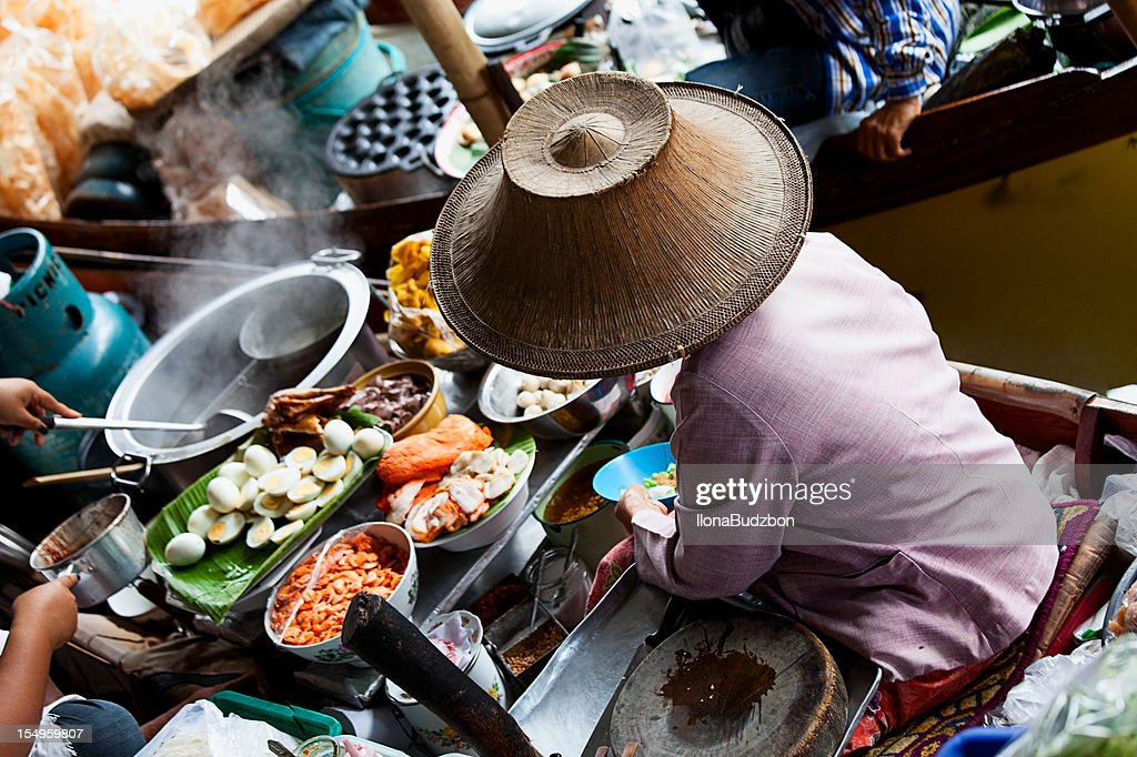 Good boat in the Floating Market in Bangkok, Thailand : Stock Photo