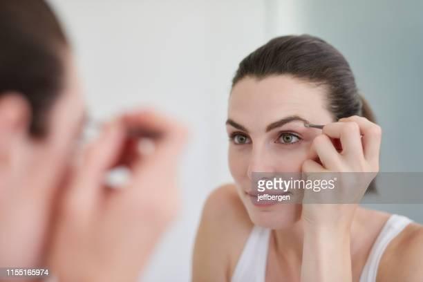 好的眉毛使偉大的風格配件 - 修眉 個照片及圖片檔