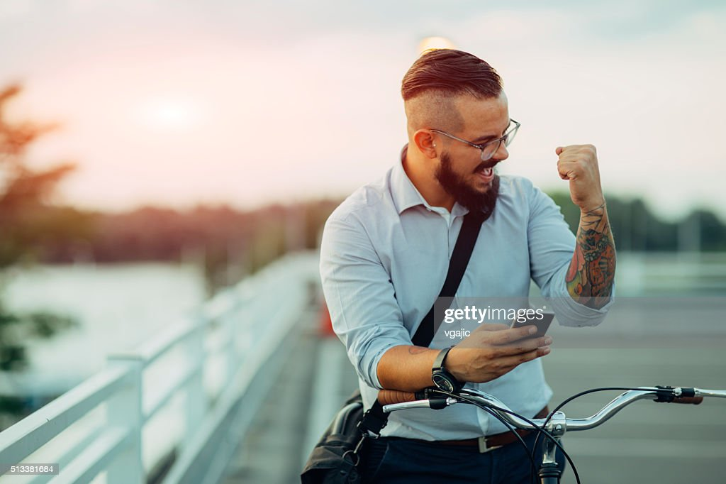 Good Business News! : Stock Photo