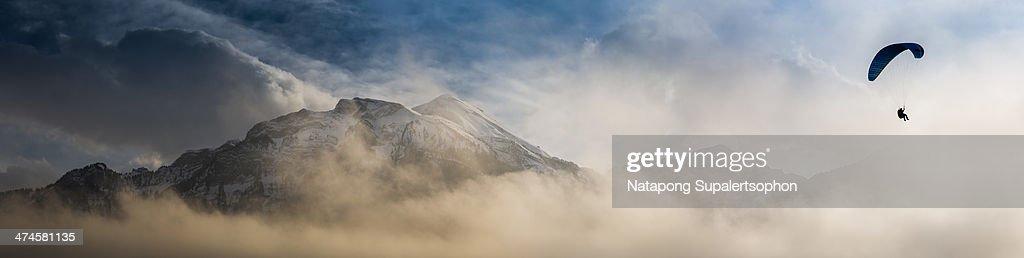 Good Bye Jungfrau : Stock Photo