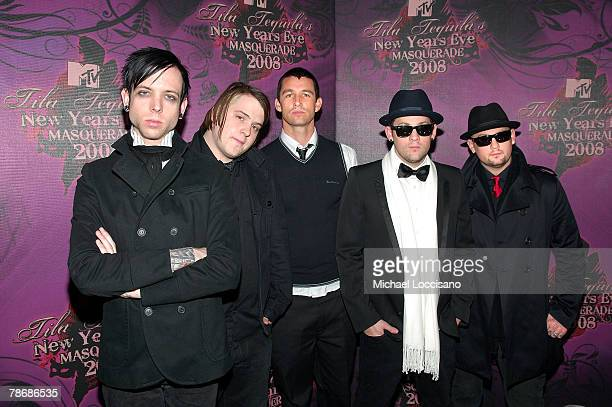 Good Charlotte attend Tila Tequila's MTV New Year's Eve Masquerade 2008 at MTV Studios in New York City's Times Square on December 31 2007 in New...