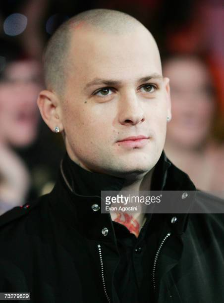Good Charlotte band member Benji Madden makes an appearance on MTV's Total Request Live February 09 2007 at MTV Studios in New York City