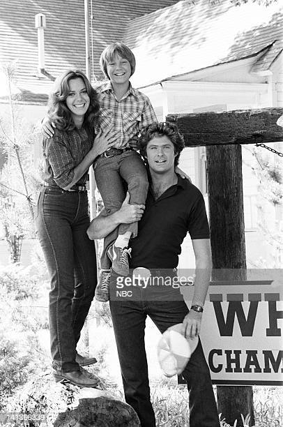 RIDER ' Good Day at White Rock' Episode 4 Pictured Anne Lockhart as Sherry Benson Keith Coogan as Davey Benson David Hasselhoff as Michael Knight...