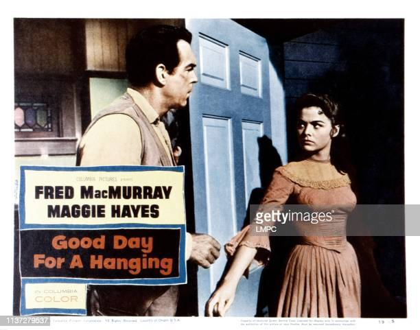 Good Day For A Hanging lobbycard from left Fred MacMurray Joan Blackman 1959