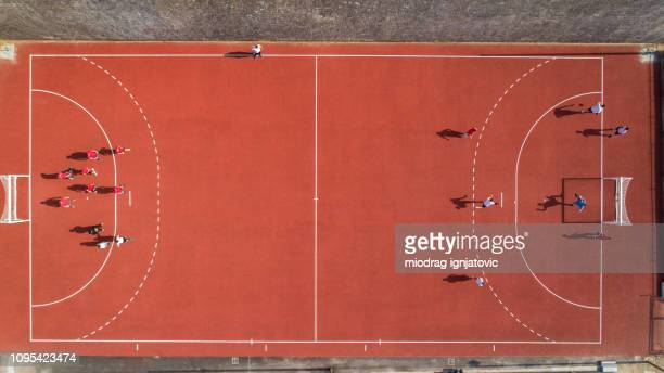 good day for handball training - handball stock pictures, royalty-free photos & images