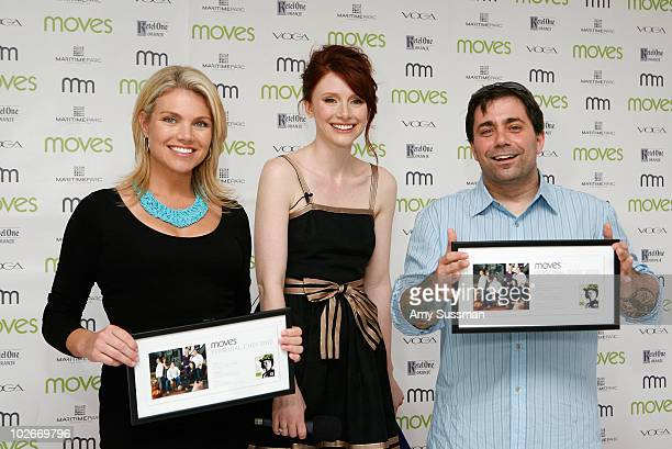 Good Day WakeUp cohost Heather Nauert actress Bryce Dallas Howard and owner of of Ed's Lobster Bar Ed McFarland attend Moves Summer 2010 at Studio...