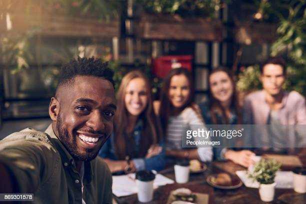 good food. better company - clique stock photos and pictures
