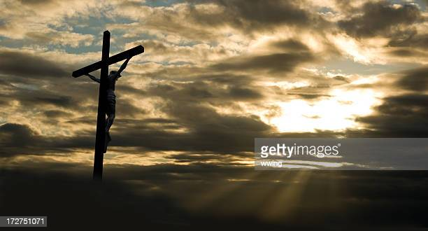 good friday at dusk - good friday stock pictures, royalty-free photos & images