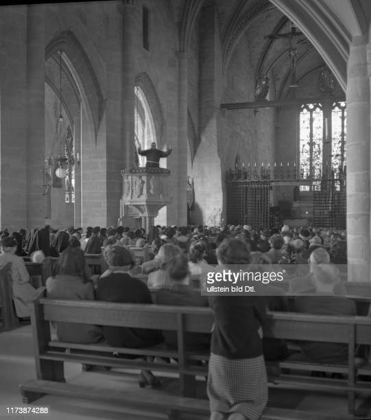 Good Friday procession in Romont 1953