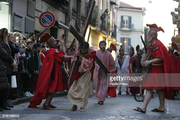 Good Friday procession which precedes Easter in Acerra near Napoli