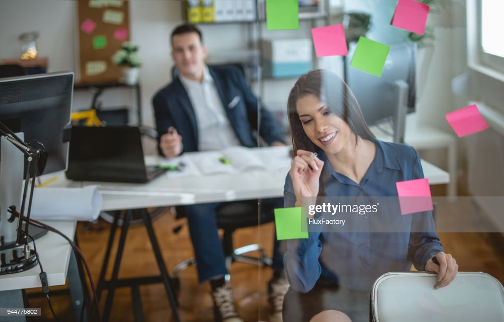 Good friends and colleagues working together : Stock Photo