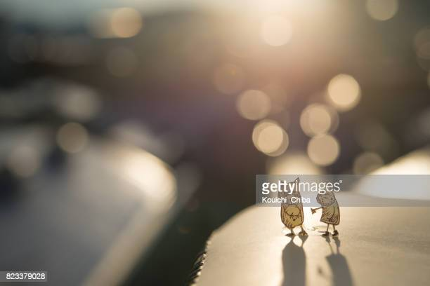 good friends - kouichi chiba stock photos and pictures